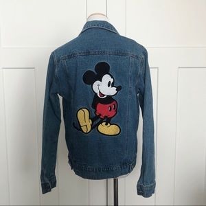 Disney Mickey Mouse Embroidered Denim Jacket